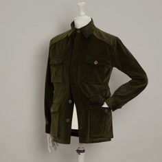 Wale Cord Cotton Travel Jacket - ANDERSON & SHEPPARD