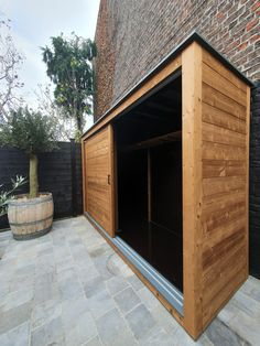 Outdoor Tool Storage, Outdoor Tools, Bike Storage, Shed Storage, Outdoor Spaces, Home Design Decor, Cottage Design, House Design, Modern Shed