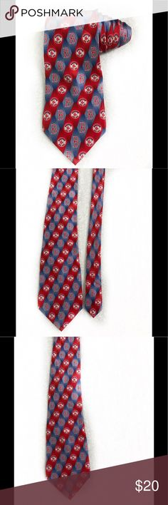 """Mlb eagle Wings Boston Red Sox Logo Novelty Tie Excellent condition  Length 60"""" Width 4"""" Smoke free home       Don't like the price? Make an offer! MLB Accessories Ties"""