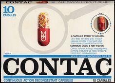 Contac capsules, 1970's