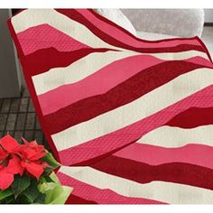 NEW! The Candy Cane Twist Snuggler Quilt Kit