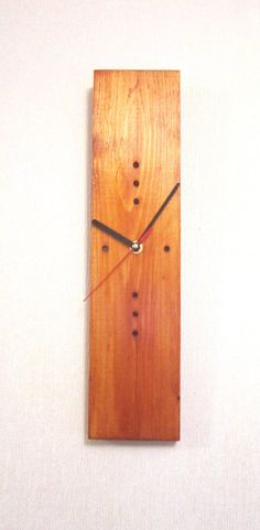 Modern wall clock wood wall clocks wooden clock by WoodenWood, $45.00