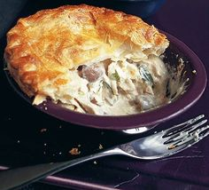 Creamy chicken & mushroom pies with butter puff pastry recipe - Recipes - BBC Good Food