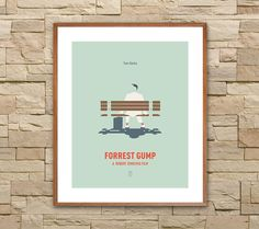 FORREST GUMP: Minimalist Movie Posters. Forrest by SITMArtPrints