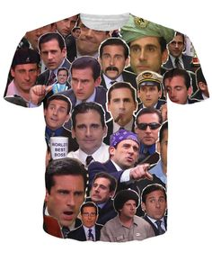The Many Faces of Michael Scott Paparazzi T-Shirt