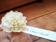 place cards, escort cards,could easily change this to a fall flower