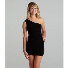 Black Mini One Shoulder Tight Dress Never Worn