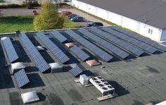 PV-On-Roof Flat-roof Installation Sparkasse Hanauerland