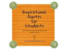 This is a PDF file of 12 inspirational quotes for great Back to School activity. They are in a customized font that students can decorate.These fonts are meant to be colored and decorated inside the letters and possibly around the page. Decorations could be related to quote.$
