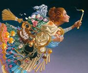 """This is a piece that I certainly identify with. James Christensen ~ """"The Responsible Woman"""""""