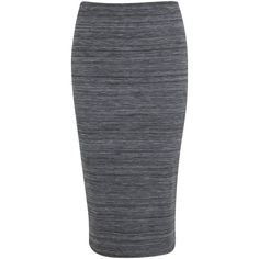 Miss Selfridge Space Dye Pencil Skirt, Grey (25 AUD) ❤ liked on Polyvore featuring skirts, pencil skirt, grey skirt, miss selfridge, pull on pencil skirt and gray pencil skirt