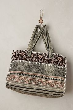Woodcut Duffel Bag by Cleobella #anthropologie #anthrofave