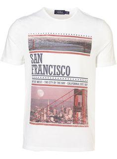 White San Francisco Print Tee