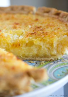 Tropical Pie ~ Pineapple and Coconut yumminess!