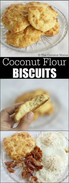 Super Healthy Low Carb Coconut Flour Biscuits (non dairy option available) - Keto recipes Low Carb Biscuit, Low Carb Bread, Keto Bread, Sourdough Bread, Rye Bread, Bread Rolls, Low Carb Desserts, Low Carb Recipes, Coconut Flour Biscuits