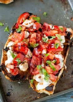 These Cheesy Chicken Bruschetta Bread Boats are a satisfying 30 minute meal.