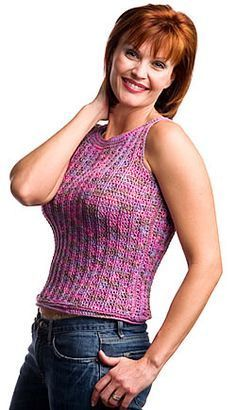 Easy, Breezy Fringed Top & Tank By Tammy Hildebrand - Free Crochet Patterns - Scroll Down To See Fringed Top - (crochetmagazine)