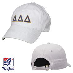 Tri Delta White Baseball Hat