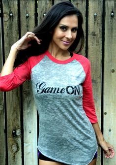 Game ON Burnout Baseball Tee by FiredaughterClothing on Etsy, $33.00