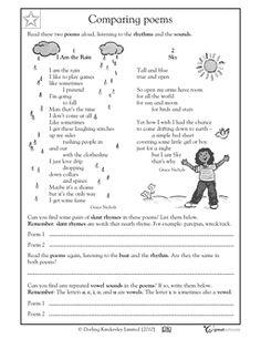 3rd grade reading worksheets poems identifying patterns your third grader pinterest. Black Bedroom Furniture Sets. Home Design Ideas