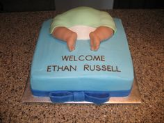 Baby Rump baby shower cake design!