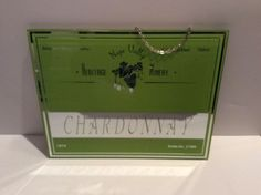 HERITAGE  WINERY  CHARDONNARY GLASS MIRROR SIGN 1974  8''x11''  | eBay