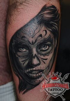 "Black and Grey ""Muerte Girl"" from Ivan Bor tattooed at hammersmith tattoo!!If you would like to book an appointment with Ivan or any other Hammersmith Tattoo-artists then please get in contact with Ivan or the artist of your choice direct or via the shop on 020 7602 1086 or info@hammersmithtattoo.co.uk#tattoo #tattoos #hammersmithtattoo #htwest #htldn #londonink #tattooshop#customtattoo #muertegirl #deadgirl #tattooparlour"