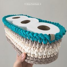The most beautiful Crochet basket and straw models Crochet Storage, Crochet Box, Crochet Basket Pattern, Knit Basket, Love Crochet, Crochet Gifts, Knit Crochet, Crochet Patterns, Crochet Baskets