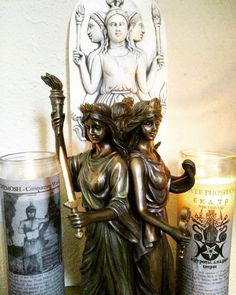 No matter what your ritual needs are, we carry a large variety of Glass Spell Candles. Pictured here:  Chemosh - Conquering War God, burn thus yellow candle (representing Conquering Sun) candle while reciting this invocation once. $7.99  Hecate Phosphorus, invoke with the flame visualizing your specific desire towards a sorcerous or magickal ability which brings knowledge, wisdom and power. $7.99  #glassspellcandle #hecate #hecatephosphorus #chemosh #wargod #conqueringwargod #moabites…