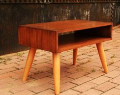 handmade bedside table.retro 50s danish style available in many colours and all dimensions