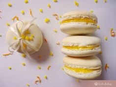Meyer citromos macaron   Sütidoboz.hu Macarons, Lemon Curd, Hamburger, Bakery, Bread, Cookies, Biscotti, Sweet, Food