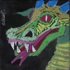 Dragon. 6 inch by 6 inch image on a 1/4 inch plywood board.