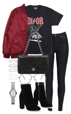 """Untitled #3383"" by theeuropeancloset ❤ liked on Polyvore featuring Stussy, Chanel, Belk Silverworks and Marc by Marc Jacobs"