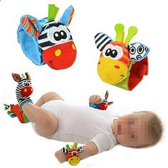 Cute Baby Wrist Rattle Foot Finder Toy Wrist Rattles . Check website for more description.