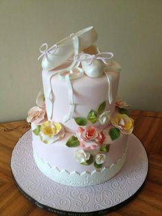 Custom Birthday Cakes for Her - Ballerina custom cake for her from Brooklyn Bakery. Ballet Cakes, Dance Cakes, Ballerina Cakes, Ballerina Party, Gorgeous Cakes, Pretty Cakes, Cute Cakes, Custom Birthday Cakes, Birthday Cake Girls