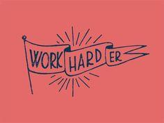 Creative Work, Hard, Er, Type, and Illustration image ideas & inspiration on Designspiration Design Logo, Lettering Design, Type Design, Typography Logo, Logos, Typography Letters, Types Of Lettering, Typography Inspiration, Grafik Design
