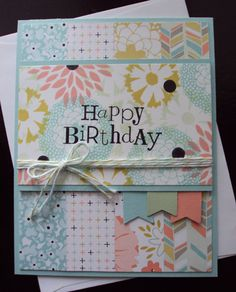 Stampin Up Sale-a-Bration card using Petal Parade made by Paperecstasy