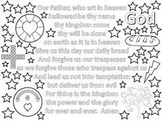 LLM Calling: Lord's Prayer Colouring Sheets #messychurch #VI #adultcolouring
