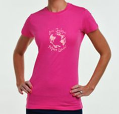 Less Judgin' More Luvin'  Women's Hot Pink Tee