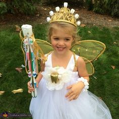 Our 4 year old daughter Abby spends her days seriously believing she is Tinker Bell and has been dressed up in fairy wings most days since before her birthday. She's already been Tinker Bell for Halloween so I told her to pick something else. Photo 4 of Holloween Costumes For Kids, Tooth Fairy Halloween Costume, Tooth Fairy Costumes, Fairy Costume For Girl, Fairy Princess Costume, Unicorn Halloween, Halloween Costume Contest, Halloween Costumes For Girls, Halloween Fun