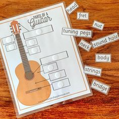 Music Activities For Kids, Preschool Music, Music For Kids, Teaching Music, Language Activities, Teaching Resources, Learn And Master Guitar, Learn To Play Guitar, Guitar Parts