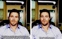 Stephen Amell  lol  this is too funny xD.