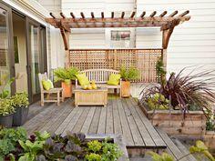 déco de jardin avec terrasse élégante en bois