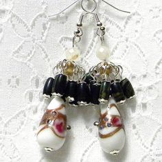 Marilyn1545 Marilyn Rush  #Jewelry #Earrings #White #Lampworks #Canopy etsy.com/listing/729320… #HandmadeByMe #Unique #Original #Affordable #Fashionable #Stylish $20