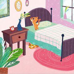 #illustration #childrensillustration #kidlitart #childrensbookillustration #art #cute #childrensbook #artwork #originalart #插画 #イラスト#cats #cat
