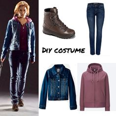 Hermione granger Harry Potter DIY Costume 1 Harry Potter Halloween Costumes, Harry Potter Cosplay, Harry Potter Outfits, Harry Potter Diy, Hermione Granger Costume, Harry Potter Hermione Granger, Ginny Weasly, Casual Winter Outfits, Diy Costumes