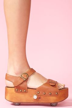 Jeffrey Campbell platform sandals with retractable roller skate wheels. Hell yes.