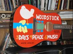 New York Postman Louis Yanez And His Extraordinary Hand-Painted Acoustic Guitar: Woodstock