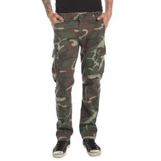 RUDE Camo Slim Fit Cargo Pants | Hot Topic ($53) ❤ liked on Polyvore featuring pants, camoflage cargo pants, slim fit pants, slim camo pants, camouflage trousers and cargo trousers