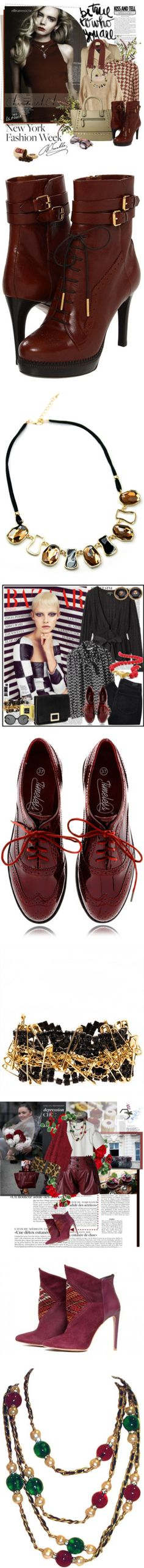 """A Walk in Wine Country: Beautiful Bordeaux Shoes"" by polyvore-editorial ❤ liked on Polyvore"